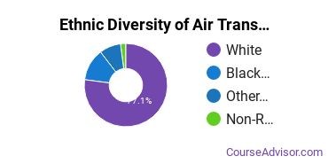 Air Transportation Majors in LA Ethnic Diversity Statistics