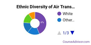 Air Transportation Majors in WA Ethnic Diversity Statistics