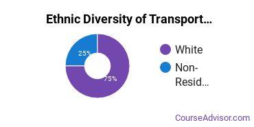 Transportation & Materials Moving Majors in ND Ethnic Diversity Statistics