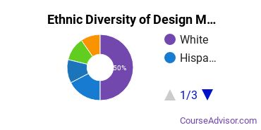 Design & Applied Arts Majors in DC Ethnic Diversity Statistics