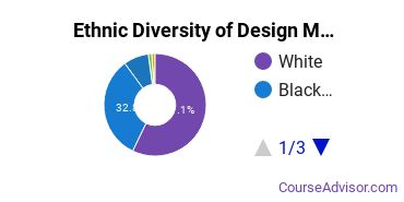 Design & Applied Arts Majors in MS Ethnic Diversity Statistics