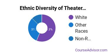 Drama & Theater Arts Majors in HI Ethnic Diversity Statistics
