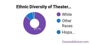 Drama & Theater Arts Majors in MT Ethnic Diversity Statistics