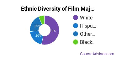 Film, Video & Photographic Arts Majors in ID Ethnic Diversity Statistics