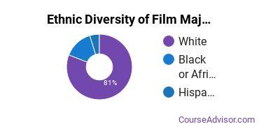 Film, Video & Photographic Arts Majors in KY Ethnic Diversity Statistics