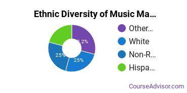 Music Majors in HI Ethnic Diversity Statistics